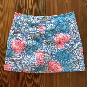 Lilly Pulitzer Nicki Skort Blue Pink Shell Print 4
